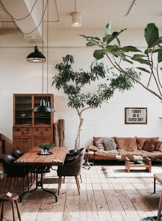 Earthy Natural And Easy Industrial Home Design Farm House
