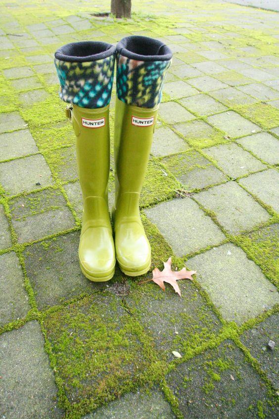 Tall+Boot+Socks+SLUGS+Fleece+Rain+Boot+Liners+Black+by+WithTheRain,+$24.00