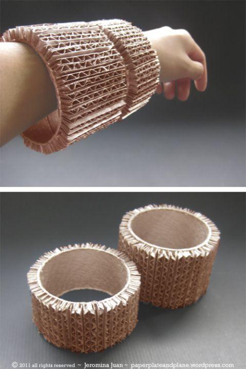 cardboard cuff bangles