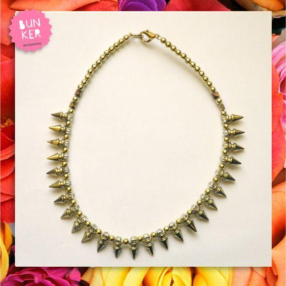 Coleccion Love me <3 Collar pinchos dorado <3 <3 Golden necklace <3