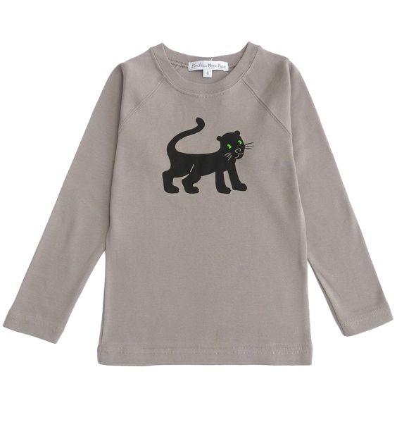 Tshirt panthère gris de Kimiko pour Marie Puce - hiver 2012