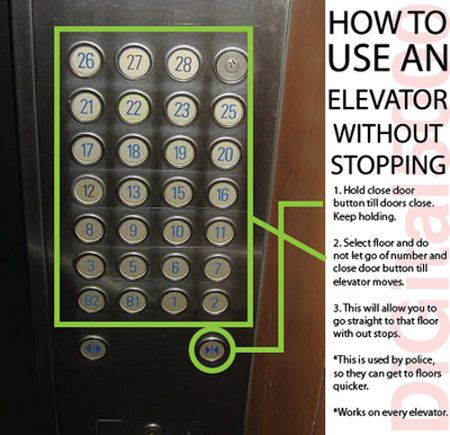How to use an elevator without stopping.