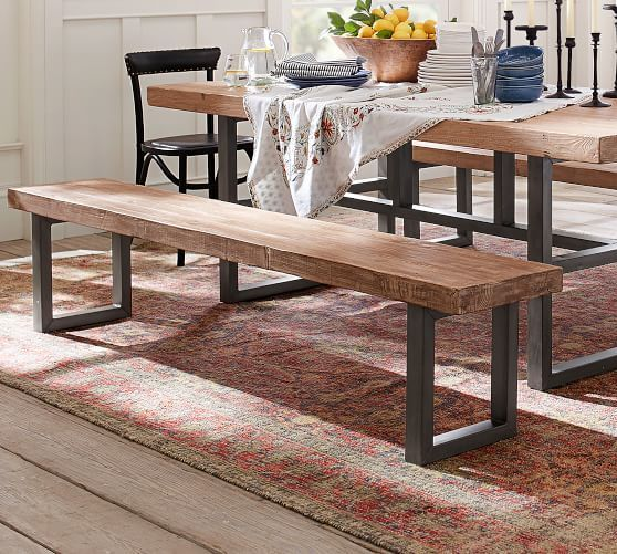 Griffin Reclaimed Dining Bench Dusty Safari Reclaimed Wood Dining Table Wood Dining Table Chic Office Furniture