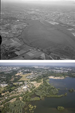 Le Lac de Maine #Angers en 1966 et en 2013 .... (mêmes vues)