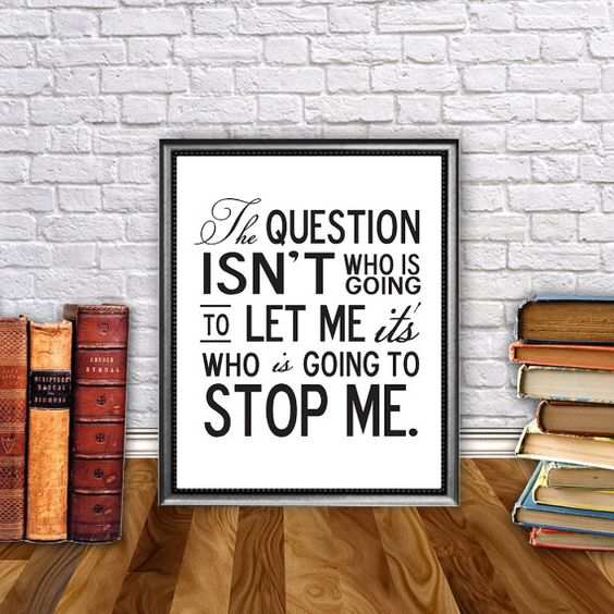 Motivational Quotes For Young Students: Ayn Rand Quote Art Print // Printable // Motivational