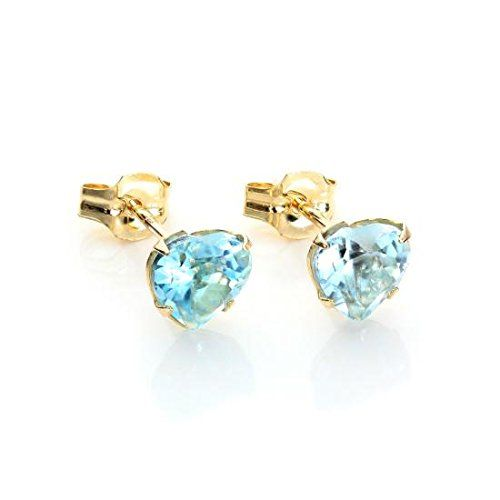 9ct Gold Sapphire Flower Studs earrings Gift Boxed Made in UK