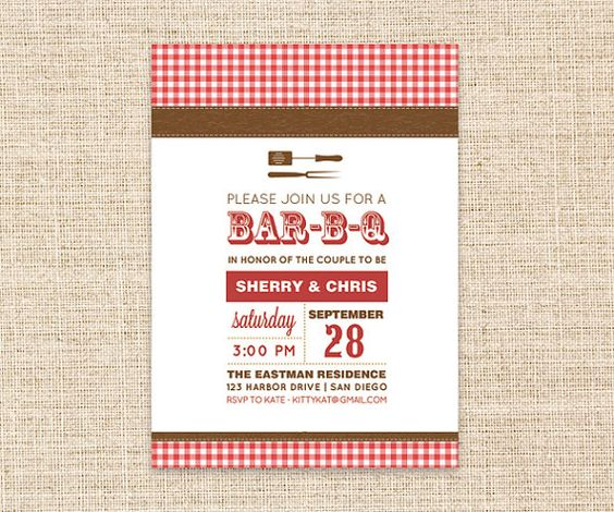 BBQ Invitation - DIY Printable Couples Shower, Baby Shower (BabyQ - bbq invitation template