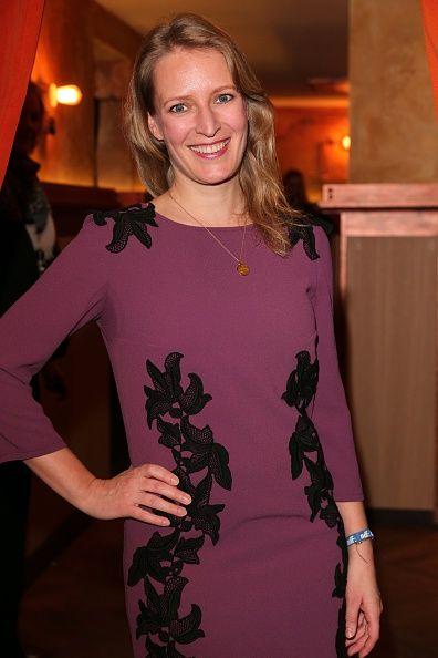Stefanie von Poser in Andrea Sauter Swiss Fashiondesign    NdF after work press cocktail