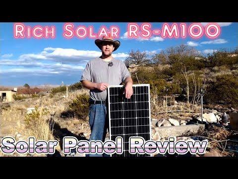 Rich Solar Rs M100 Solar Panel Review Manifest Opinion E007 Youtube Free Energy Solar Panels Manifestation
