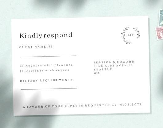 Wedding Rsvp Card Wedding Response Card Reply Card Wedding Menu Choice Cards Rsvp Card Modern G In 2020 Wedding Response Cards Rsvp Wedding Cards Response Cards