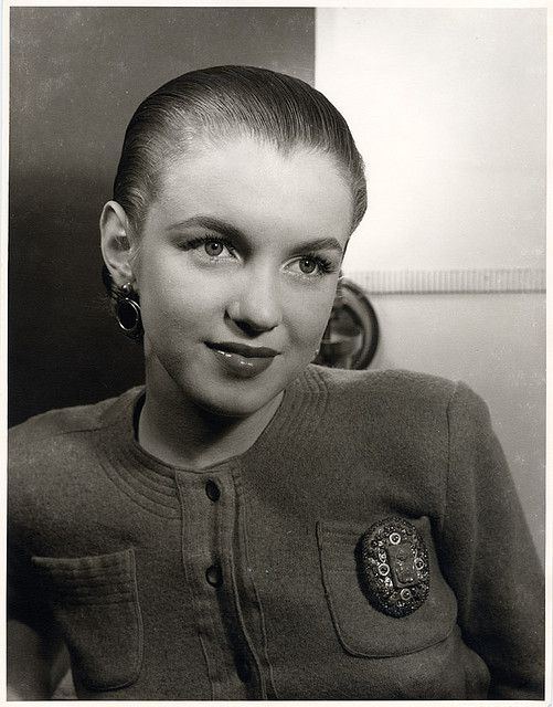 Norma Jean Dougherty at age 17 (Marilyn Monroe) by H. Maier Studios, ca. 1944