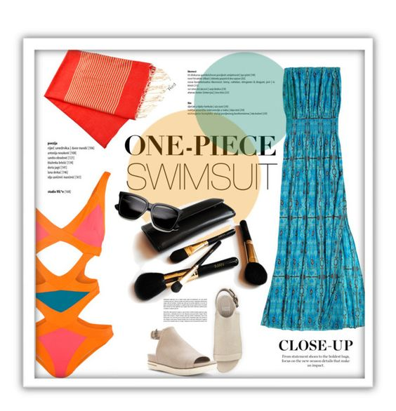 """""""One Piece Cut-Out"""" by sportsonista ❤ liked on Polyvore featuring Agent Provocateur, Calypso St. Barth, Eileen Fisher and Iman"""