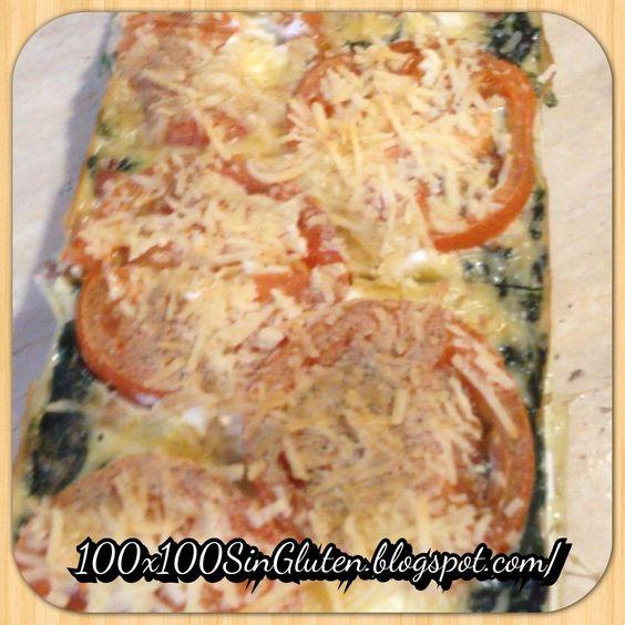 Pastel de espinacas con bacon sin gluten