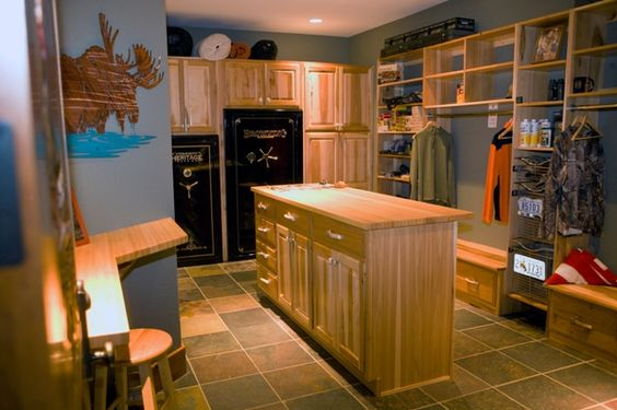 Custom guns cabinets and hunters on pinterest for Custom safe rooms