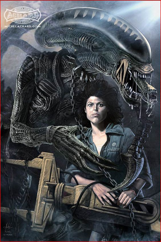 Alien and Ripley by Michael Achard *: