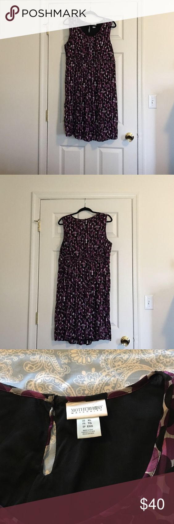 Maternity Purple Polka Dot Party Dress Sleeveless Purple Polka Dot Maternity Party Dress Motherhood Maternity Dresses