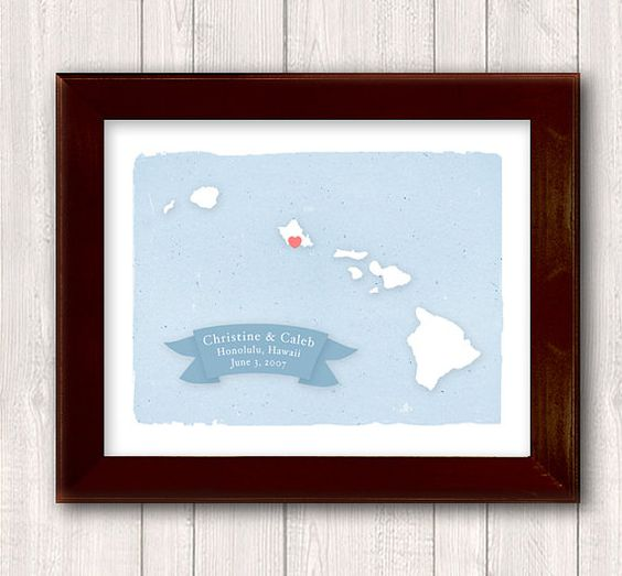Wedding Gifts From Hawaii: Family Name Home Decor