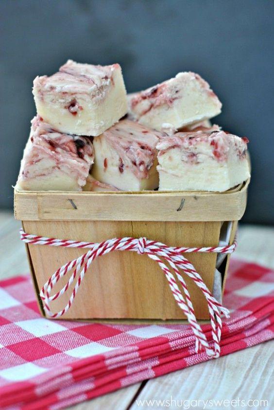 White Chocolate Raspberry Fudge | White Chocolate Raspberry, Fudge and ...