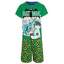 Buy Batman Comic Shortie Pyjamas, Green Online at johnlewis.com