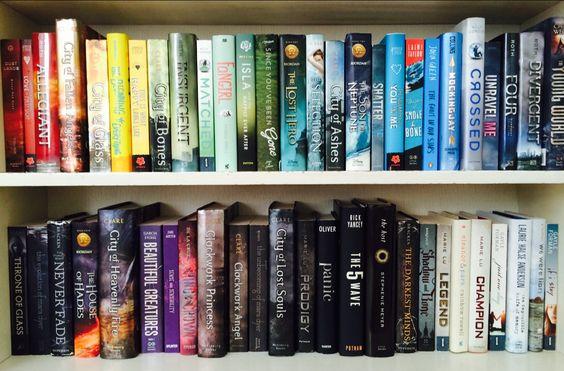 bookshelf rainbow: