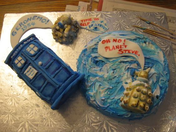 Dr. Who Birthday Cake - COOKING