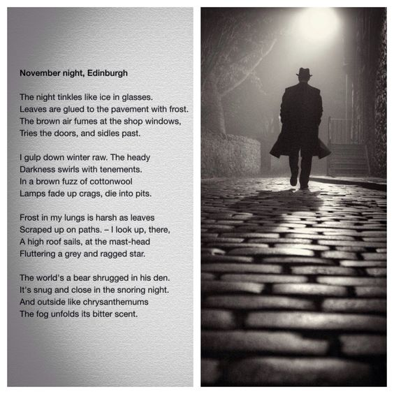 analysis for the poem november night edinburgh Gcse english literature - poetry revision  do not simply retell the story of the poem -close analysis of detail to support opinions  november night.