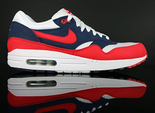 nike air max 1 midnight navy action Rouge neptune Bleu
