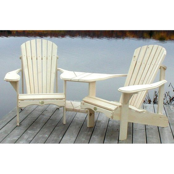 Bear Chair Adirondack Angled Tete-a-Tete Kit - BC950P - AdirondackChairOutlet.com
