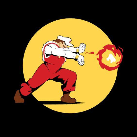 Camiseta Super Mario Bros. Ataque Kamehameha