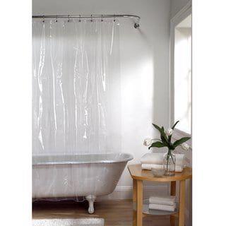 Maytex Super Heavyweight Vinyl Shower Curtain Or Liner White Vinyl Shower Curtains Shower Liner Bathtub Walls