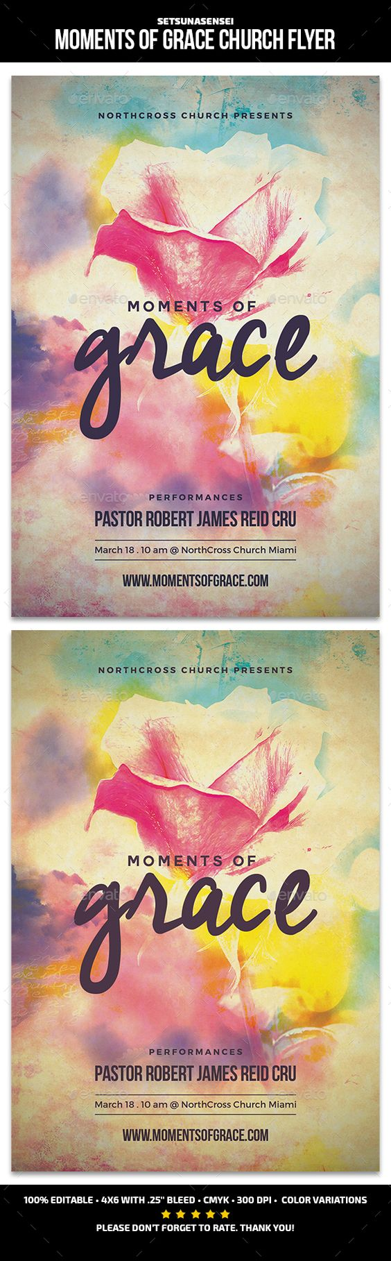 moments of grace church flyer fonts ocean paintings and flyer moments of grace church flyer template psd here graphicriver