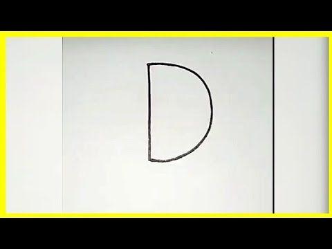طريقة وكيفية تحويل حرف D الى رسمة تعلم الرسم بسهوله Youtube Youtube Letters