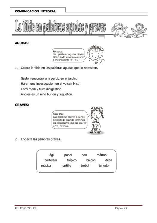 3º Primaria Refuerzo De Palabras Agudas Llanas Y Esdrújulas School Spanish Boarding Pass