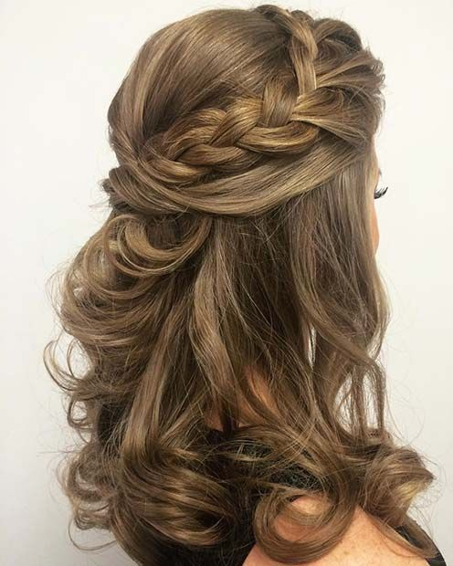 60 Stunning Prom Hairstyles Pageant Planet Find The Best Hairstyles For Thick Or Thin Hair Page Half Up Hair Wedding Hairstyles For Medium Hair Hair Styles