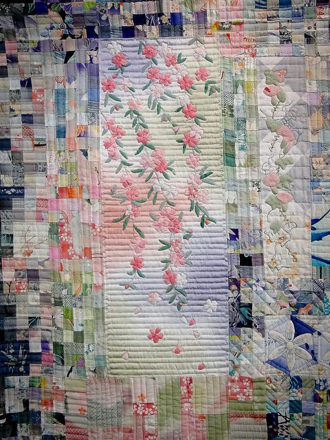 cherry blossoms quilt, Tokyo International Quilt Show: