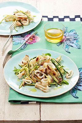 Insalata di calamaretti alle zucchine