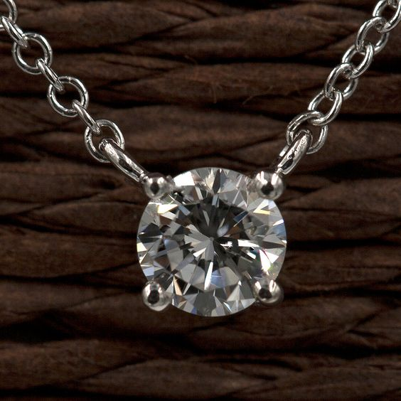 Solitaire Diamond Necklace 0.25 ct.14k Solid White,Yellow,Rose Gold Necklace.100% Natural Diamond.Simple Solitaire Pendant Necklace. by DiamondFineJewelry on Etsy