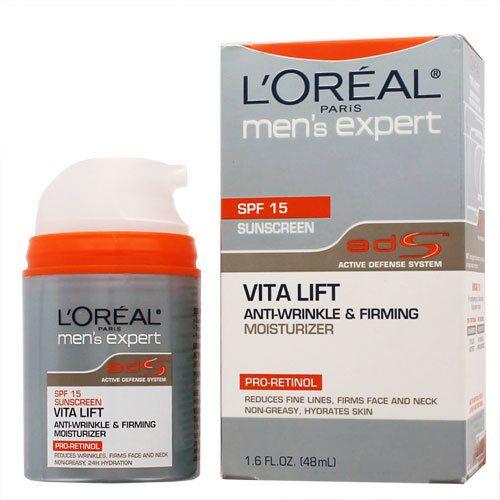 Loreal Men S Expert Vita Lift Anti Wrinkle Firming Moisturizer Spf 15 With Images Firming Moisturizer Loreal Spf 15