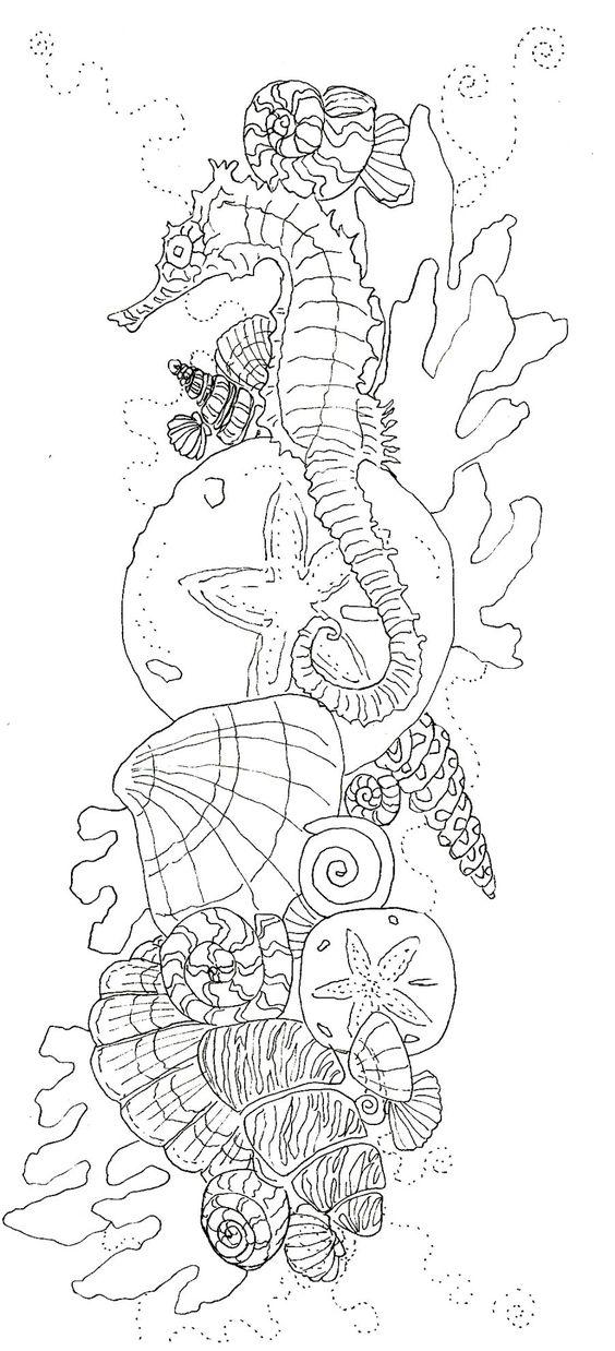 Advanced Ocean Coloring Pages : Dessin à colorier sur le thème de la mer coloriage