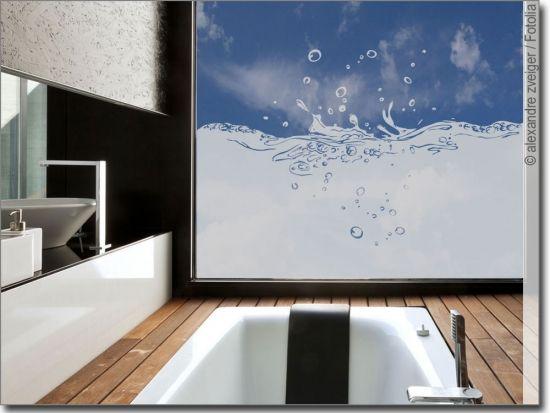 Sichtschutz Splash Fensterfolie Glasduschen Sichtschutz Fenster