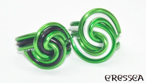 grüner Draht - Ring von Eresseas Werkel Ecke auf DaWanda.com