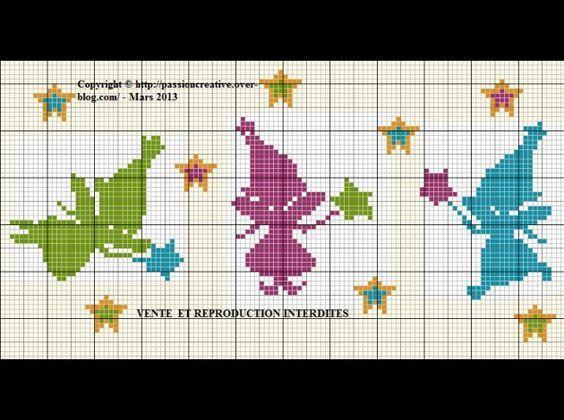 bébé - baby - fée - étoile - point de croix - cross stitch - Blog…