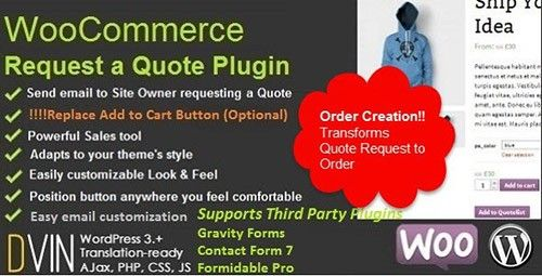 WooCommerce Request a Quote v226 Codecanyon free premiem themes - quote request form