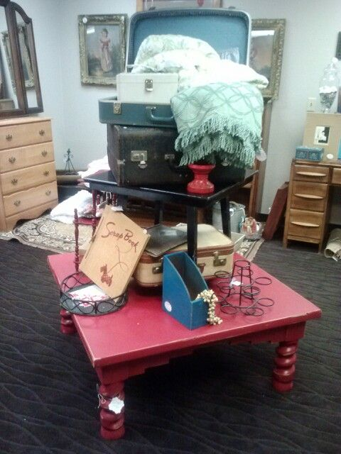 Red Square Coffee Table $84 At Lingering Legacy In Marysville, Wa, This  Item Has