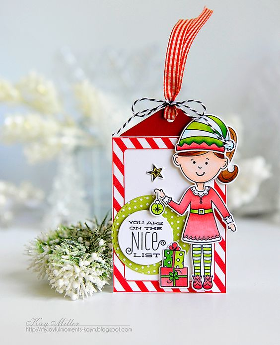 Nice List Tag by Kay Miller for Papertrey Ink (September 2016)