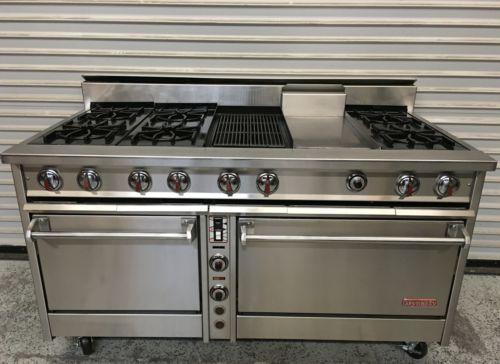 60 6 Burner Gas Range Radiant Broiler Griddle Conv Std Oven Jade Range 5948 Gas Range Oven Oven Range