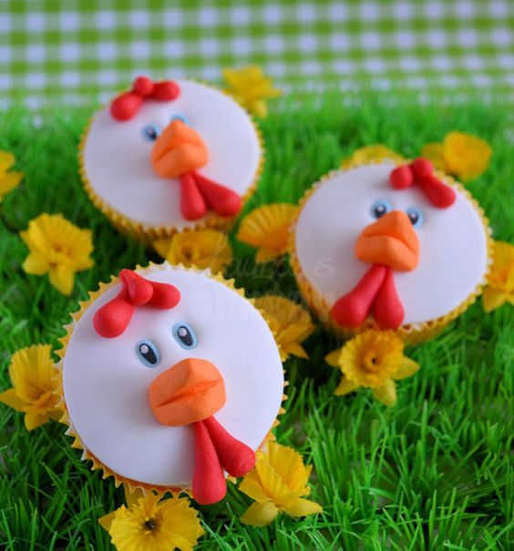 Kippen cupcakes