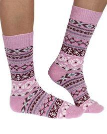 Nera women's organic cotton and wool crew socks in rose   By Braintree