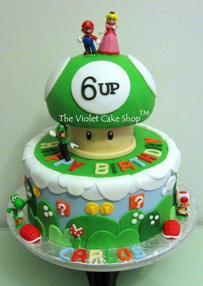 Super Mario cake: