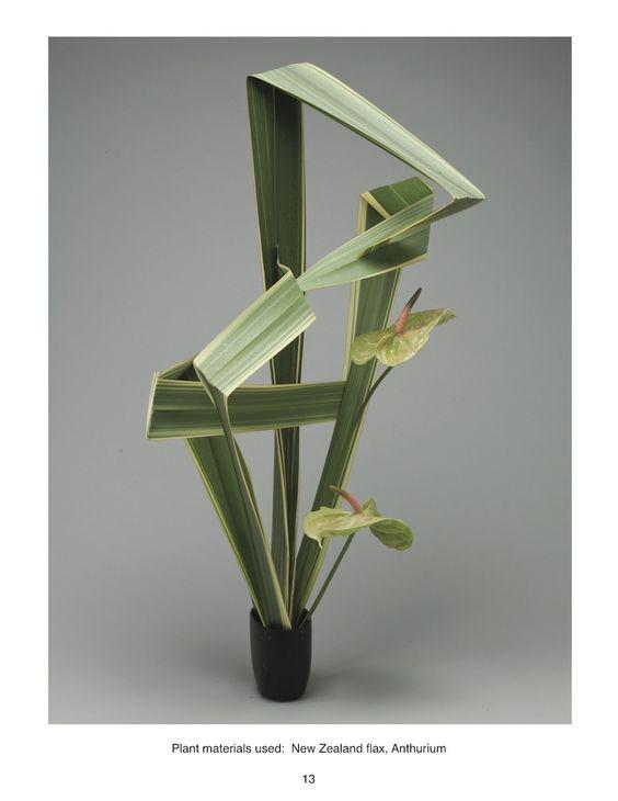 Leaf Manipulation Manual —: Ikebana Leaf, Ikebana Arrangements, Floral Ideas Research, Bloemschikken Ikebana, Crafts Ikebana, Ikebana Sogetsu, Ikebana Arrangementen